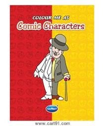 Color ME AS Comic Characters Book English
