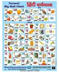 Navneet Big Wall Chart Hindi Varnamala