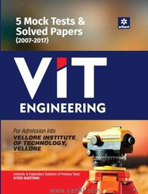 5 Mock Tests And Solved Papers For VIT Engineering
