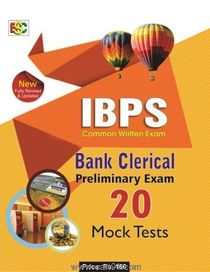 IBPS (CWE) Bank Clerical Preliminary Exam 20 Mock Tests
