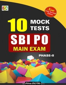 SBI PO Main Exam Phase II 10 Mock Tests