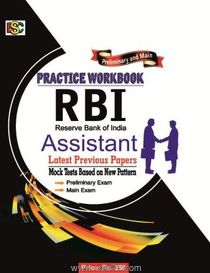 RBI Assistant Last Pervious Papers Practise Workbook