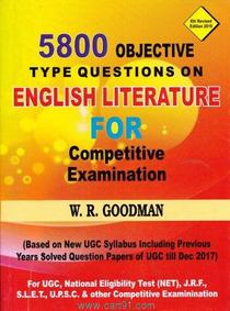 English Literature For Competitive Examination