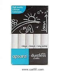 Apsara Dustless Chalks White