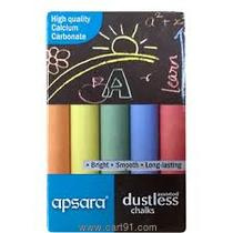 Apsara Dustless Chalks Assorted