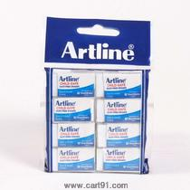 Artline Dust Free Eraser Small Pack Of 8