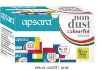 Apsara Non Dust Colorful Eraser