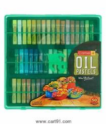 कॅमेल ऑइल पेस्टल्स 50 शेड्स प्लास्टिक बॉक्स