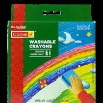 कॅमेल वॉशेबल क्रेयॉन्स 6 शेड्स