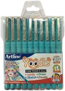 Artline Yoodle Fine Pen Assorted Pack Of 10 (Blister)