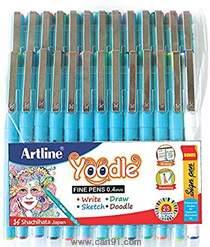 Artline Yoodle Fine Pen Assorted Pack Of 25 (Blister)
