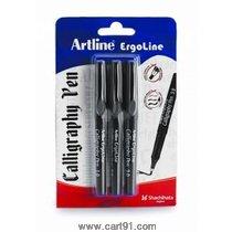 Artline Ergoline Calligraphy Pen Set Of 3 Blue