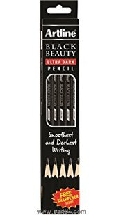 Artline Blackbeauty Ultra Dark Pencil Pack Of 10