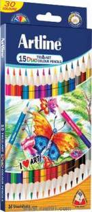 Artline Duo Tri-Art Pencils Set Of 15(30)