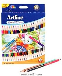 Artline Duo Tri-Art Pencils Set Of 20(40)