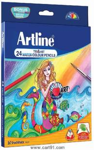 Artline Triangular Water Color Pencil Pack Of 24