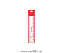 फॅबर कास्टेल स्केल - पारदर्शक स्लिम 15 सेमी पॅक ऑफ 10