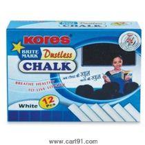 Kores Britemark Dustless Chalk White-12 Nos