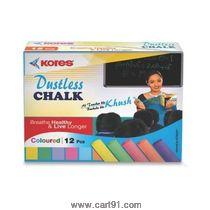 Kores Britemark Dustless Chalk Colored-12 Nos