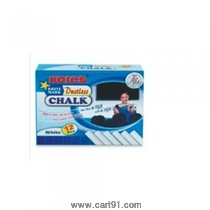 Kores Calcium Carbonate Chalk White - 10 Nos