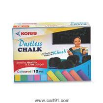 Kores Calcium Carbonate Chalk Colored - 10 Nos
