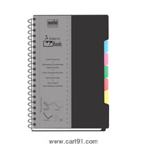 Solo 5-Subjects Note Book (300 Pages) B5