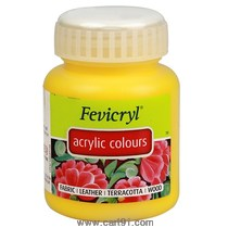 Fevicryl Acrylic Colors Chrome Yellow 500ml