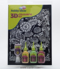 Pidilite 3d Coloring Kit Floral (Sunflower)