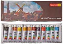 Camel Artists Oil Color Box - 9ml Tubes 12 Shades