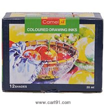 Camel Colored Drawing Inks T-12 20ml