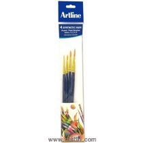 Artline Paint Brush Synthetic Round No - 0,2,4,6