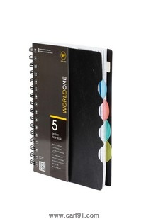 World One 5 Subject Notebook A6