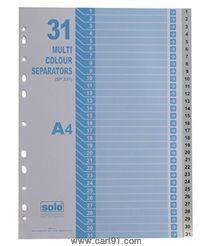सोलो सेपरेटर्स / डिव्हाइडर्स (31 चा सेट) -युनी कलर