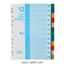 Solo Separators-Divider (Set Of 12) -Multi Color