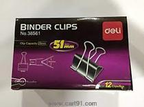 Deli Binder Clip Black 51mm Box (38561)