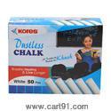 Kores Britemark Dustless Chalk White-50 Nos