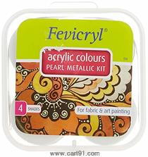Fevicryl Acrylic Colors Pearl Metallic Kit 40ml