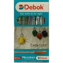 Doms Debok Microtex Ball Pen - Pack Of 100 Pens