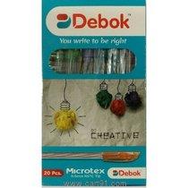 डोम्स डेबोक मायक्रोटेक्स बॉल पेन - पॅक ऑफ 100 पेन्स