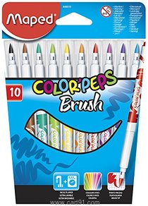 Maped Color Peps Brush Tip Pen Set - Pack Of 10 (multicolor)