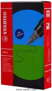 Stabilo Roller Ball Pens - Pack Of 10, Black