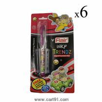 Flair Inky Trendz Liquid Fountain Pen (pack Of 6)