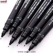 युनिबॉल युनिपिन ड्रॉइंग पेन पिगमेंट फाइन लाइनर सेट ब्लॅक 0.05 मिमी ते 0.8 मिमी (सेट ऑफ 6)