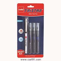 Cello Tristar Roller Pen Exam Kit (Blue)