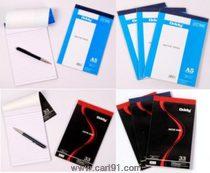 Oddy Writing Pad - (128x215mm) - 80 Sheets - Beautiful Black Cover Design