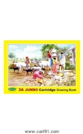 Sundaram 3a Jumbo Cartridge Drawing Book Yellow