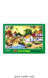 Sundaram 4a Cartridge Drawing Book Green