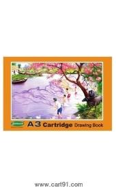 Sundaram A3 Cartridge Drawing Book Orange