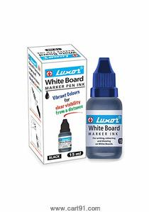 Luxor Whiteboard Marker Ink, 15 ml, Blue - Pack of 10