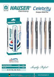 होउसर सेलिब्रिटी (गिफ्ट, ऑफिस, स्कूल ब्लू बॉल पेन) 2 पेन